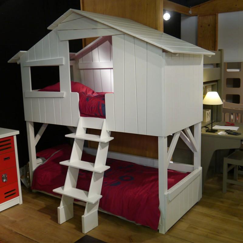 lit cabane simple ou superpos en bois pour chambre d 39 enfants mathy by bols chez pure deco. Black Bedroom Furniture Sets. Home Design Ideas