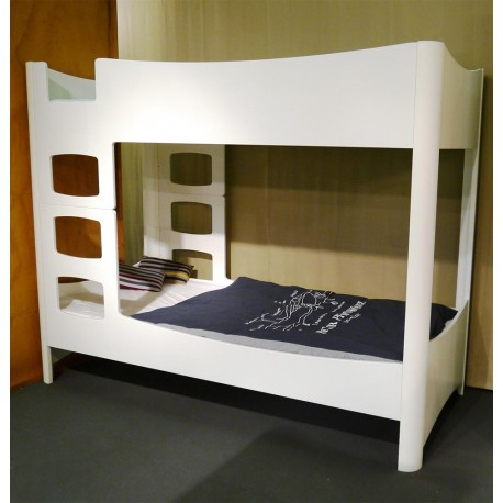 White bunk bed Fusion