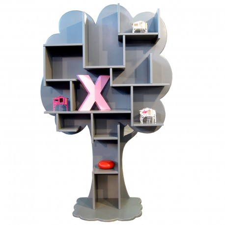 Tree bookcase Louane Linen