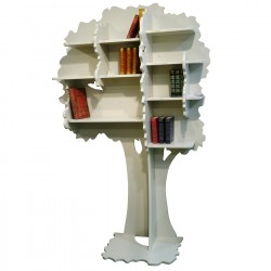 Tree bookcase Sam Beige - Mathy by bols