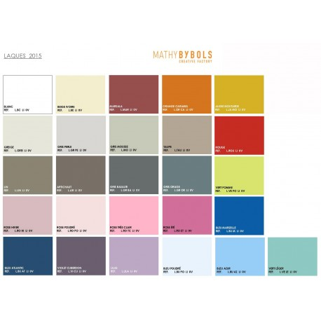 Color chart tree bookcase Tess - Mathy by bols