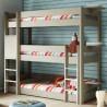 Triple bunk bed inseparable Dominique