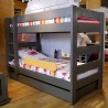 Double bed separable Dominique grey
