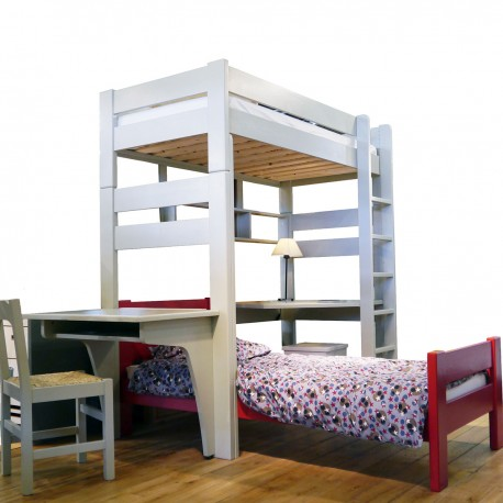 High sleeper bed white 209 Dominique