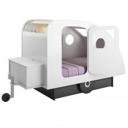 White caravan bed - Mathy by bols