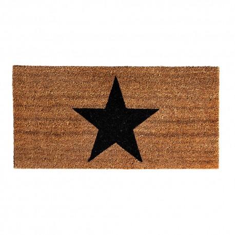 Rectangular star doormat by Bloomingville