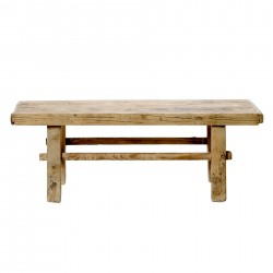 Table basse en bois ancien brut