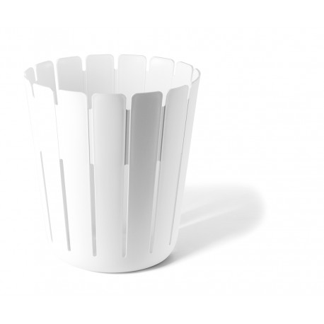 Beautiful white wastebasket