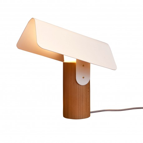 Design Carbet lamp by Reine Mère in steel and solid beech