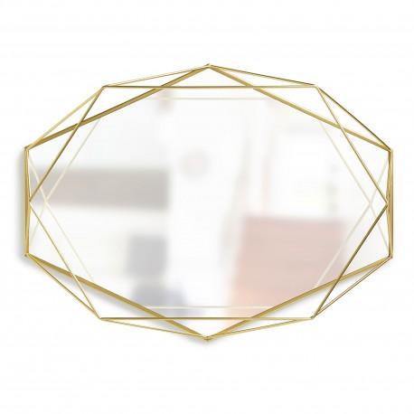 Golden metal Prisma mirror by Umbra