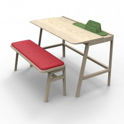 Desk Vessel with its bench + cushion
