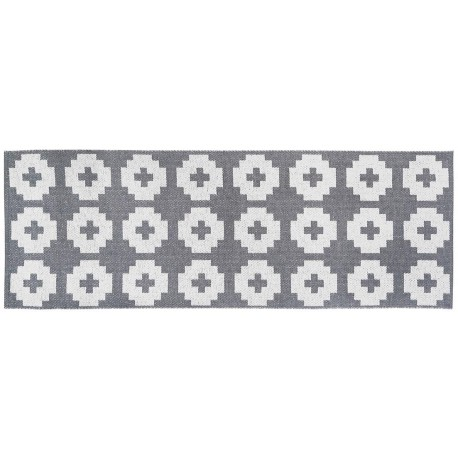 Tapis de couloir Flower Gris