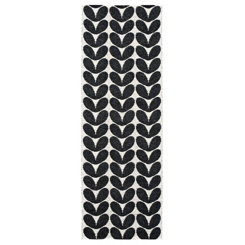 tapis couloir noir et blanc en pvc - Tapis De Couloir