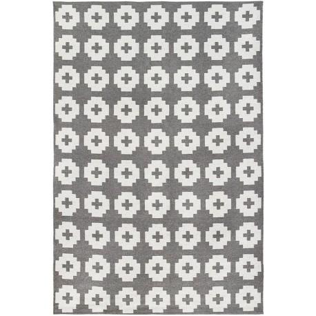 Large area rug Flower Grey