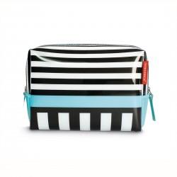 Washbag Black Stripes Remember