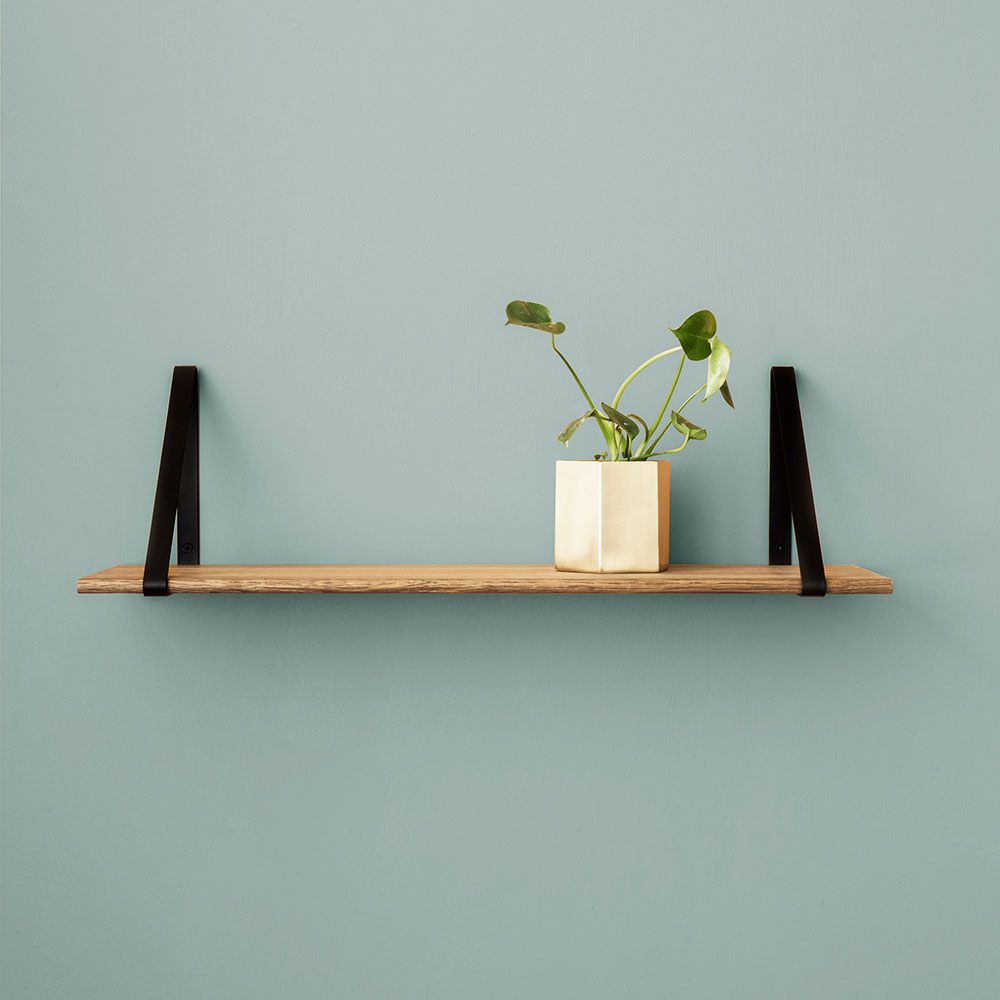 Metal and oak wall shelf by Ferm Living - several options available