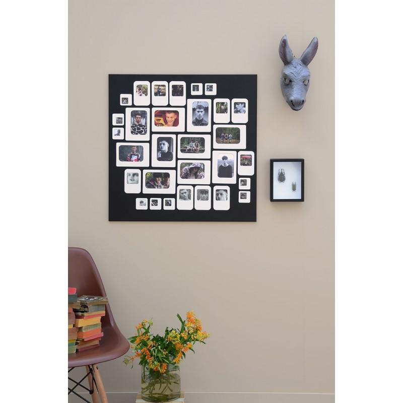 grand pele mele photo m tal noir m30 noir presse. Black Bedroom Furniture Sets. Home Design Ideas