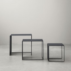 Cluster metal coffee tables