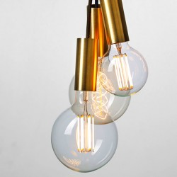 Straight filament LED bulb