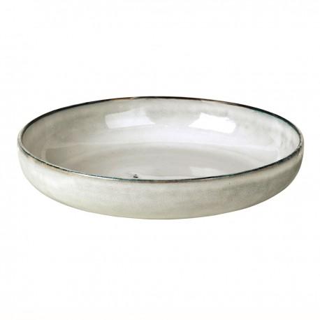 round qtoneware dish Nordic Sand