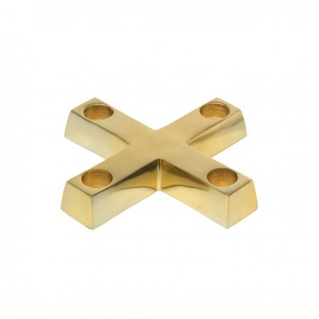 Brass cross candlestick Judy