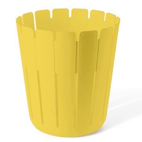 Corbeille à papier jaune