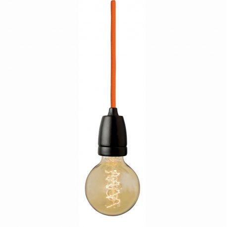 Black socket hanging lamp