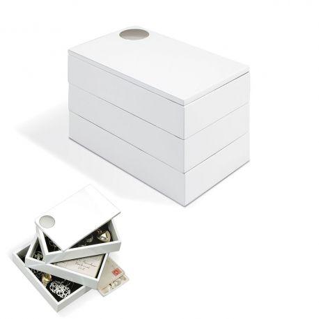 white laquered Jewelry box