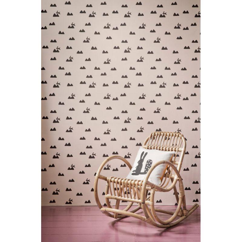 papier peint enfant rabbit rose par ferm living. Black Bedroom Furniture Sets. Home Design Ideas