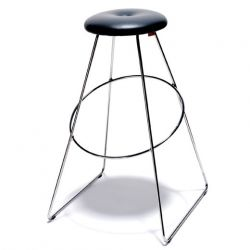 Tabouret de bar en cuir design