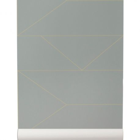 Design gray and gold wallpaper