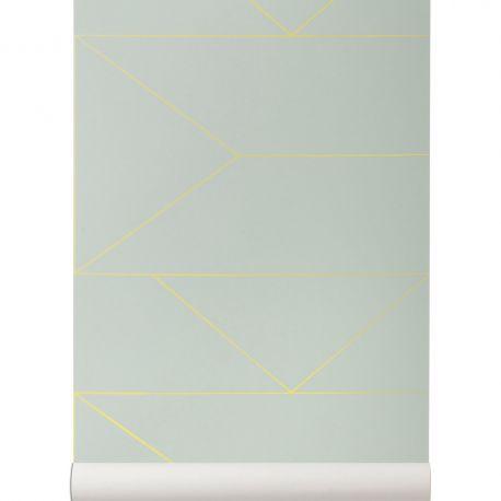 Lines mint wallpaper Ferm Living