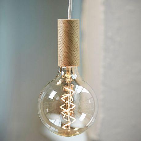 Spiral filament LED bulb