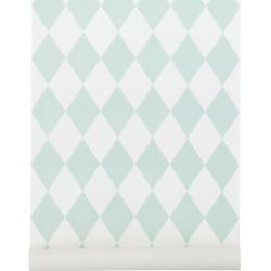 Harlequin wallpaper mint green