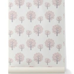Papier peint enfant Ferm Living Dotty rose