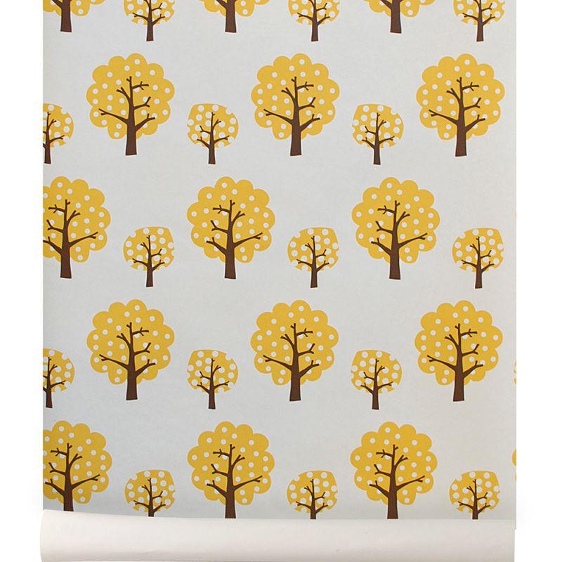 papier peint dotty jaune ferm living. Black Bedroom Furniture Sets. Home Design Ideas