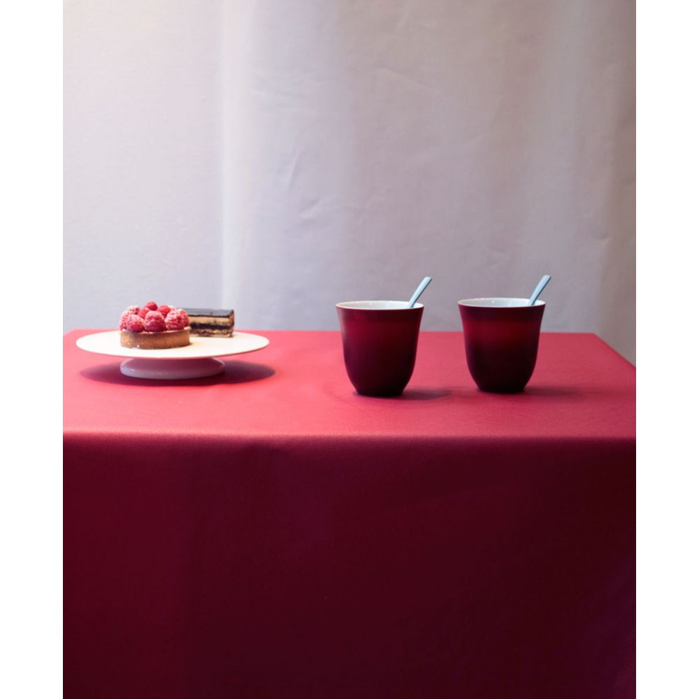 Solid Red Coated Tablecloth By Fleur De Soleil Organic