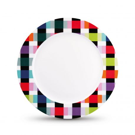 Assiette à dessert en porcelaine colorée