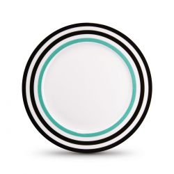 Black Lines dessert plate Remember