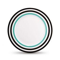 Black Lines porcelain dessert plate remember