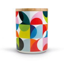 Solena porcelain canister Remember