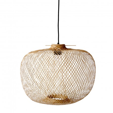 Suspension en bambou ronde Bloomingville