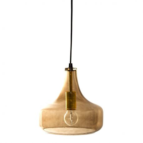 Drop smoked glass hanging lamp Bloomingville