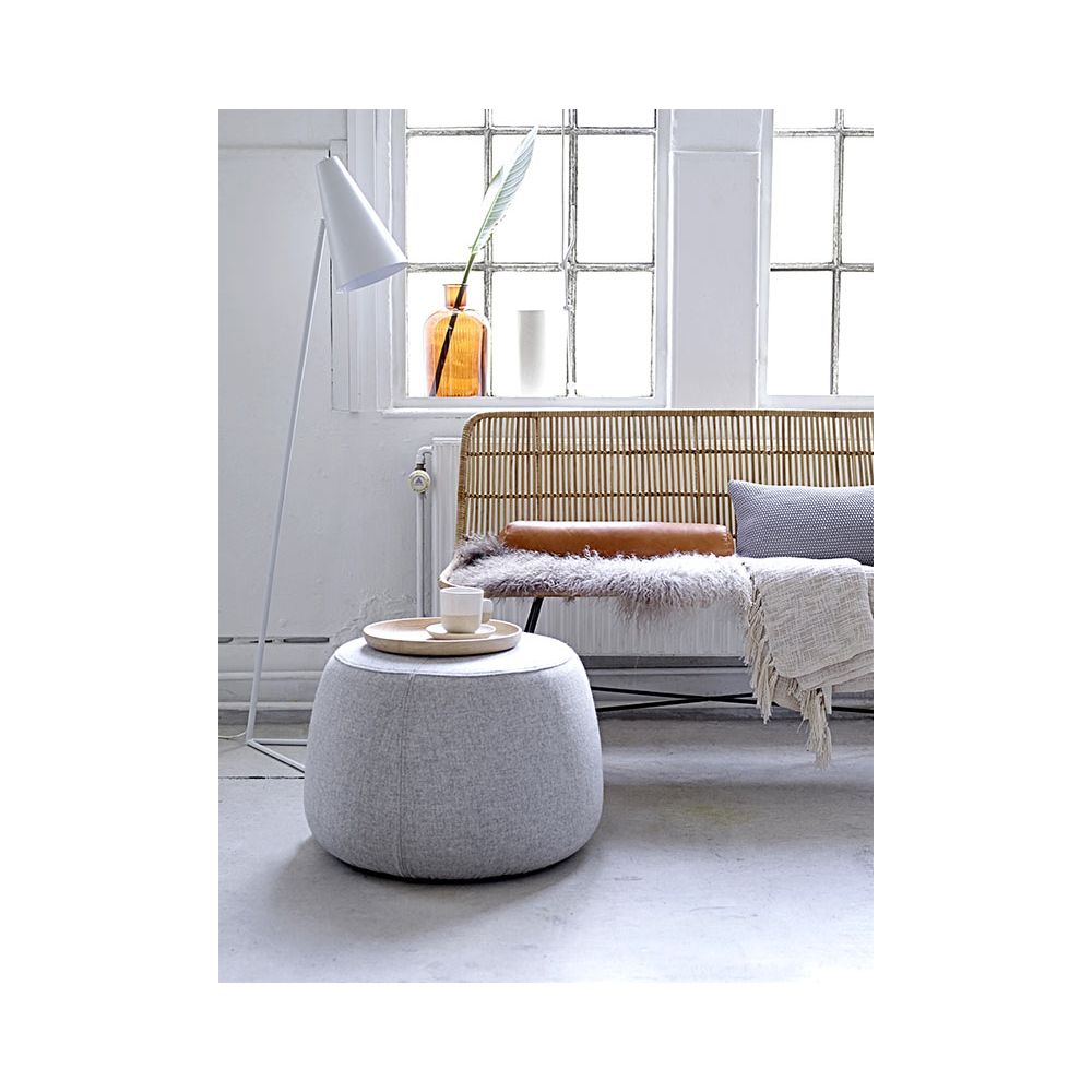 Grey round pouf Sit by Bloomingville at Pure Deco