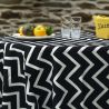 Tablecloth black herringbone