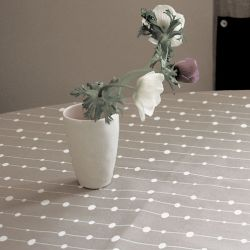 Grey Pearls tablecloth