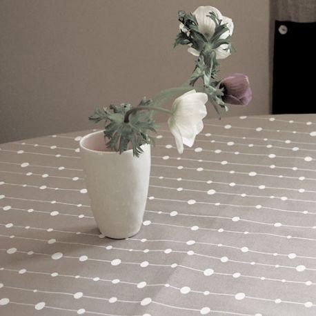 Grey Pearls tablecloth