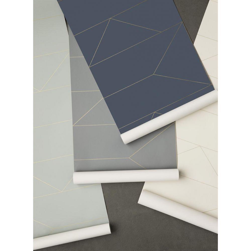 papier peint ferm living lines papier peint bleu fonc. Black Bedroom Furniture Sets. Home Design Ideas