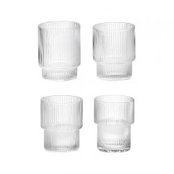 4 Verres Ripple Ferm Living
