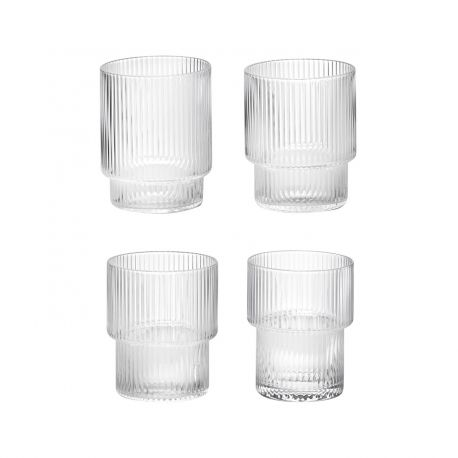 4 water glasses Ripple Ferm Living